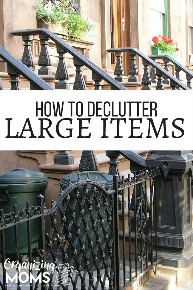 How to declutter large items. Things like huge TVs, appliances, and furniture are tough to get rid of. Here's some ideas for how you can get the larger pieces of clutter out of your space.