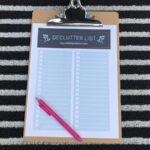 Decluttering list PDF download