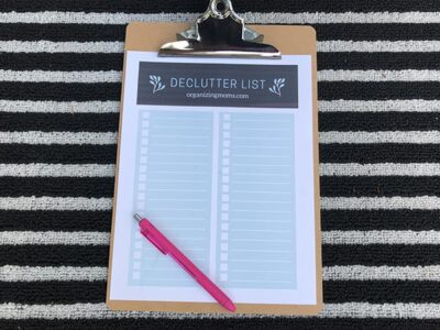 Decluttering list PDF download