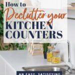 declutter kitchen countertops