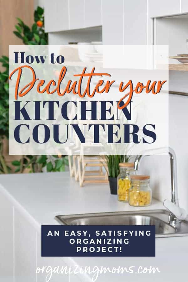 declutter kitchen countertops