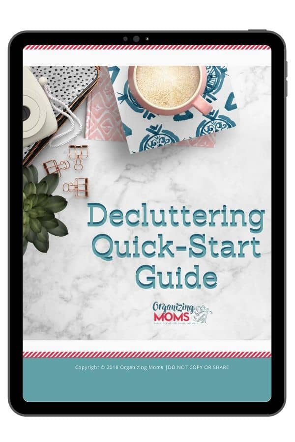 Close up of cover for Decluttering Quick-Start guide