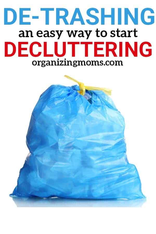 Wonder where to start decluttering? Make quick, effective progress by de-trashing! You'll be surprised at how much you can get rid of and how much space you'll clear once you get started. Find out how to de-trash your space effectively and start building your decluttering confidence.