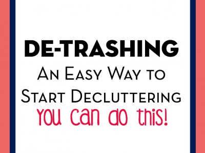 Great advice about how to start decluttering.