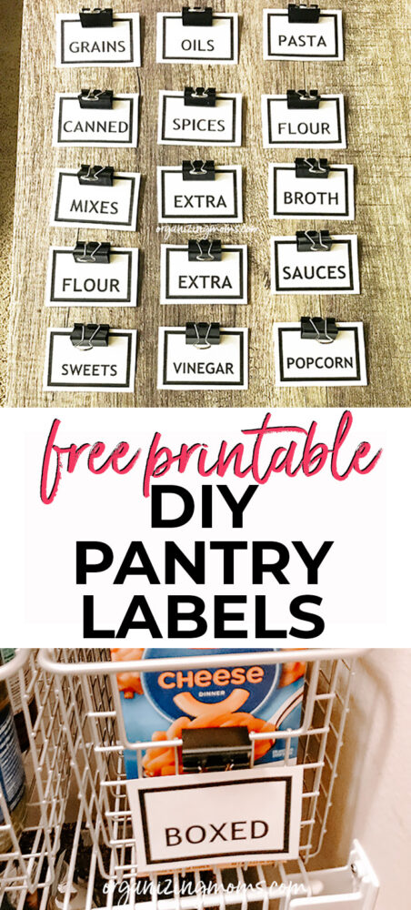 diy pantry labels