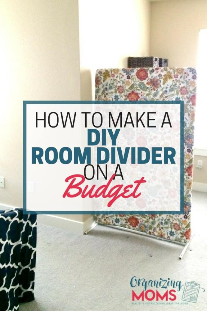 DIY Room Divider On A Budget Organizing Moms