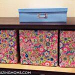 Ridiculously easy DIY storage bins. DIY organization idea for hard-to-fit spaces.