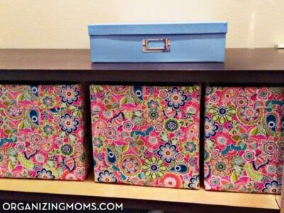 Ridiculously easy DIY storage bins. DIY organization idea for hard-to-fit spaces.