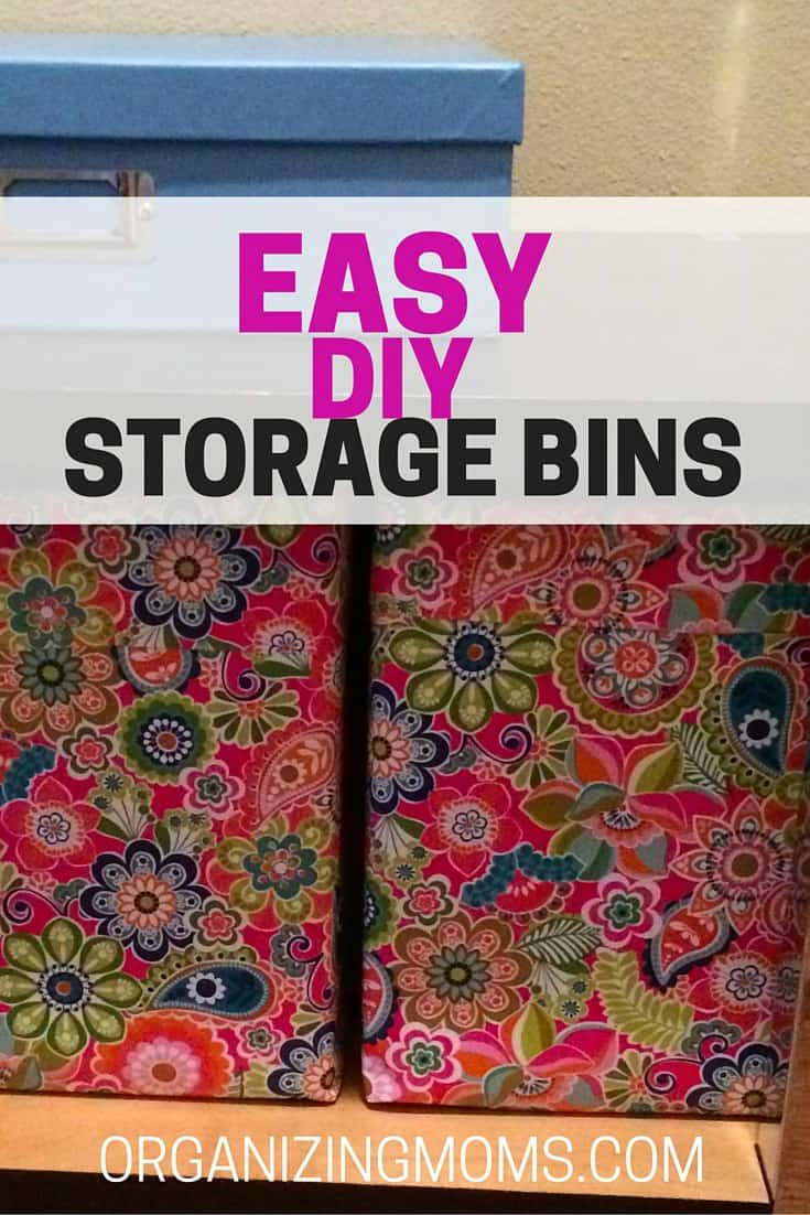 Ridiculously Easy DIY Storage Bins Organization Idea For Hard To Fit Spaces