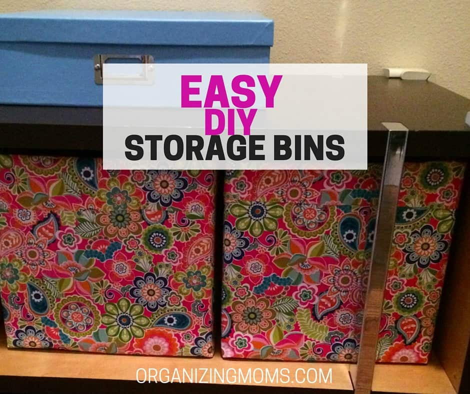 Easy Diy Storage Bins Organizing Moms