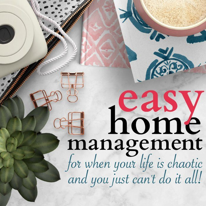Home management tips and ideas. How to create a home management plan based on your most important tasks.