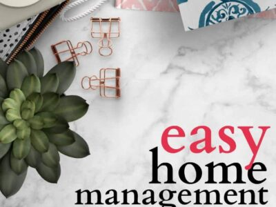 Easy home management for when your life is chaotic and you just can't do it all. Realistic solutions for managing your home.