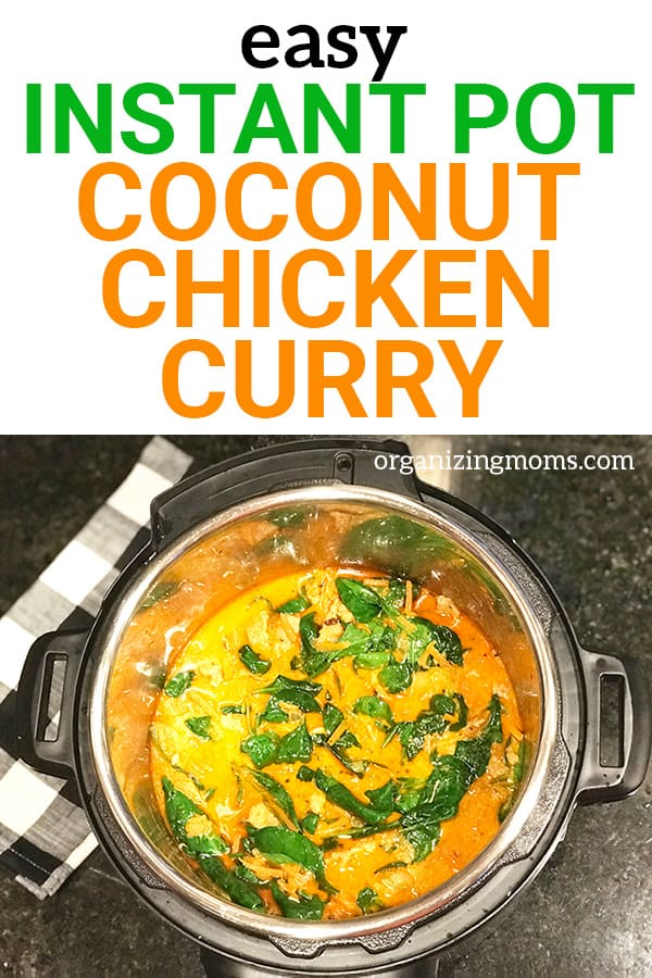 easy instant pot coconut chicken curry