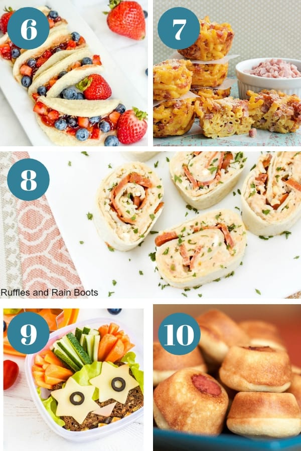 easy school lunch ideas
