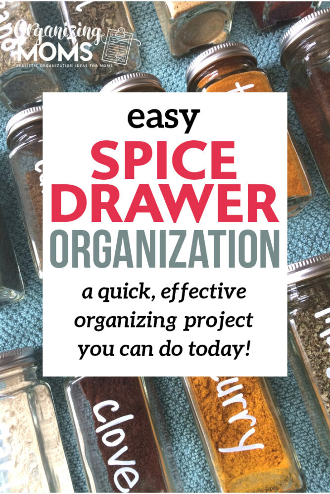 easy spice drawer organization project