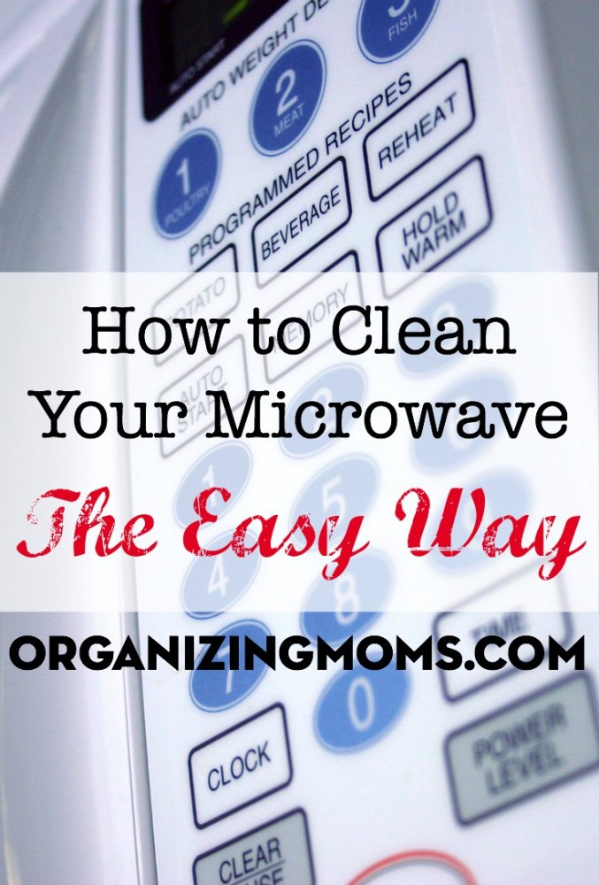 A super-easy way to clean your microwave. Part of the busy moms cleaning challenge.