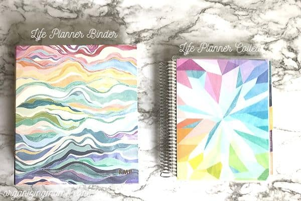 erin condren life planner binder and life planner coiled