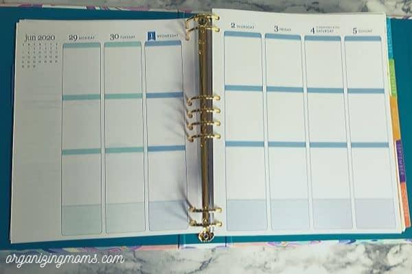 erin condren life planner vertical layout