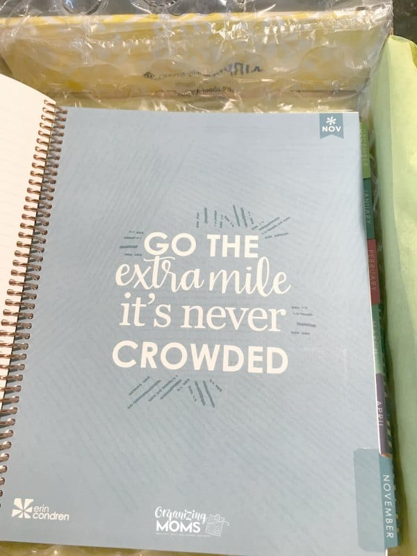 The Erin Condren Deluxe Monthly Planner includes 12 motivational quote pages like this one!