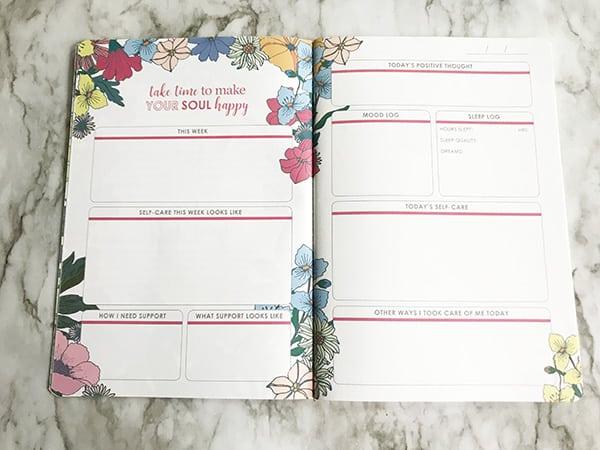 erin condren petite planner self care journal weekly inside