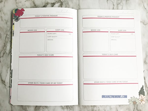 erin condren petiteplanner self care journal inside