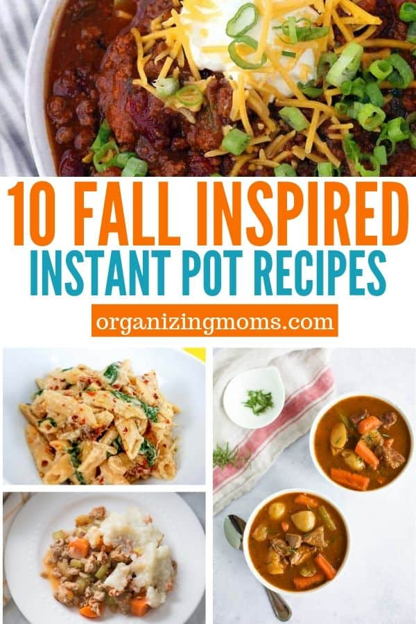 10 fall inspired instant pot recipes