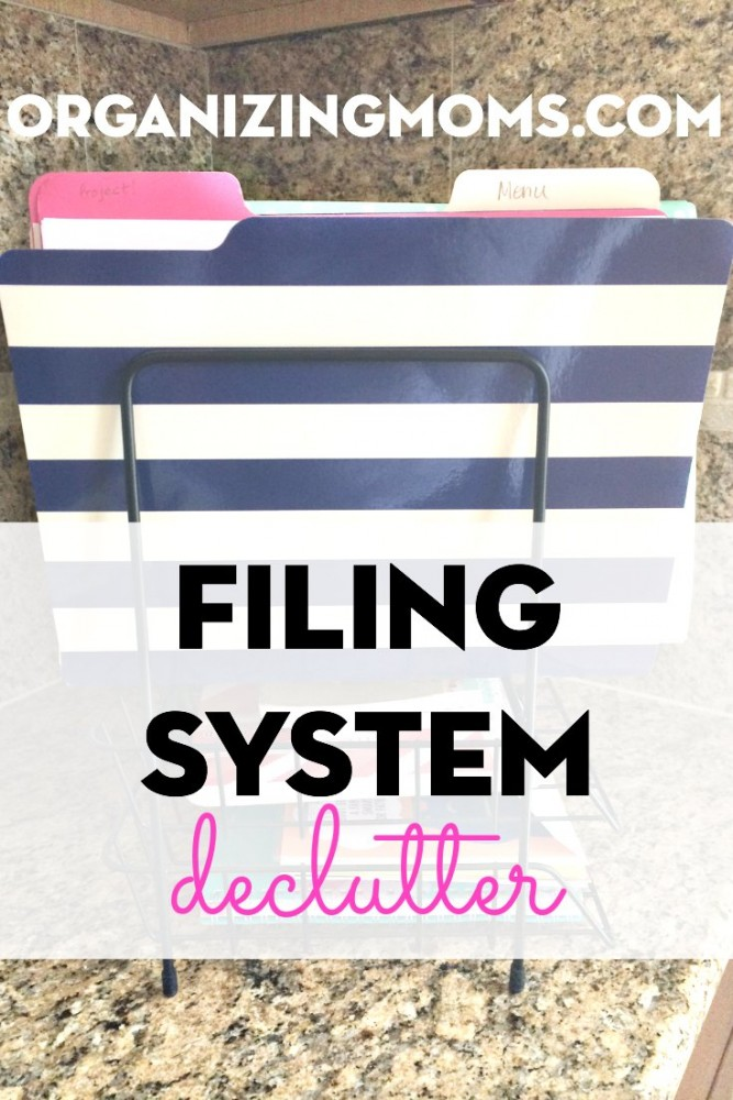 How I decluttered my filing system and made it work better for our family. Filing System Declutter.