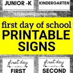 signs for first day of school pictures