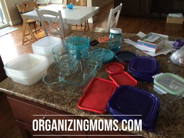Food storage organized together by type