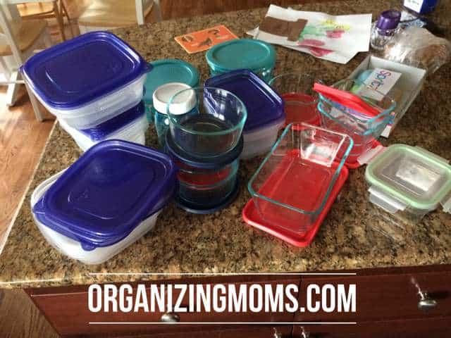 Food storage items together.