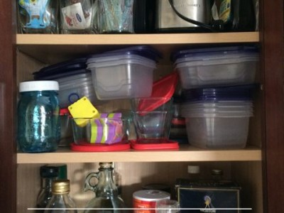 How to organize your food storage containers.