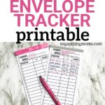 free cashless envelope tracker printable