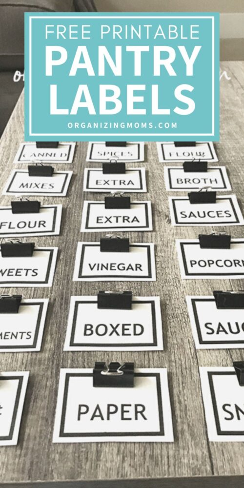 free printable pantry labels from organizingmoms