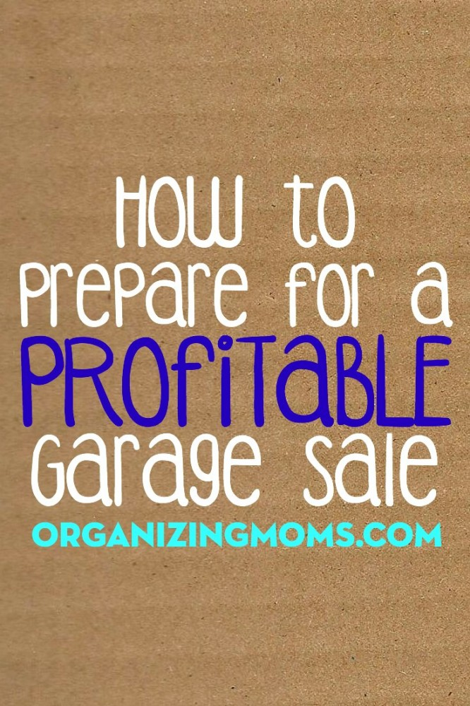 20 tips to help you get ready for your next garage sale.