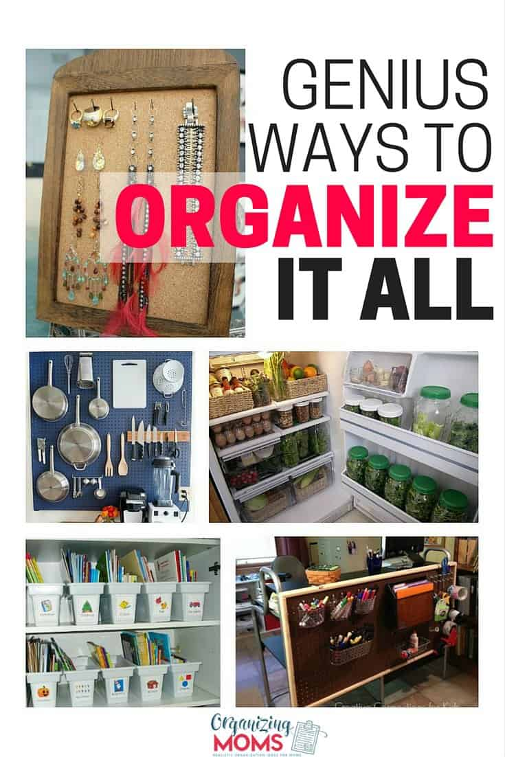 Over 20 organizing tips, tricks, and ideas to help you get organized. Great organizing ideas and inspiration.