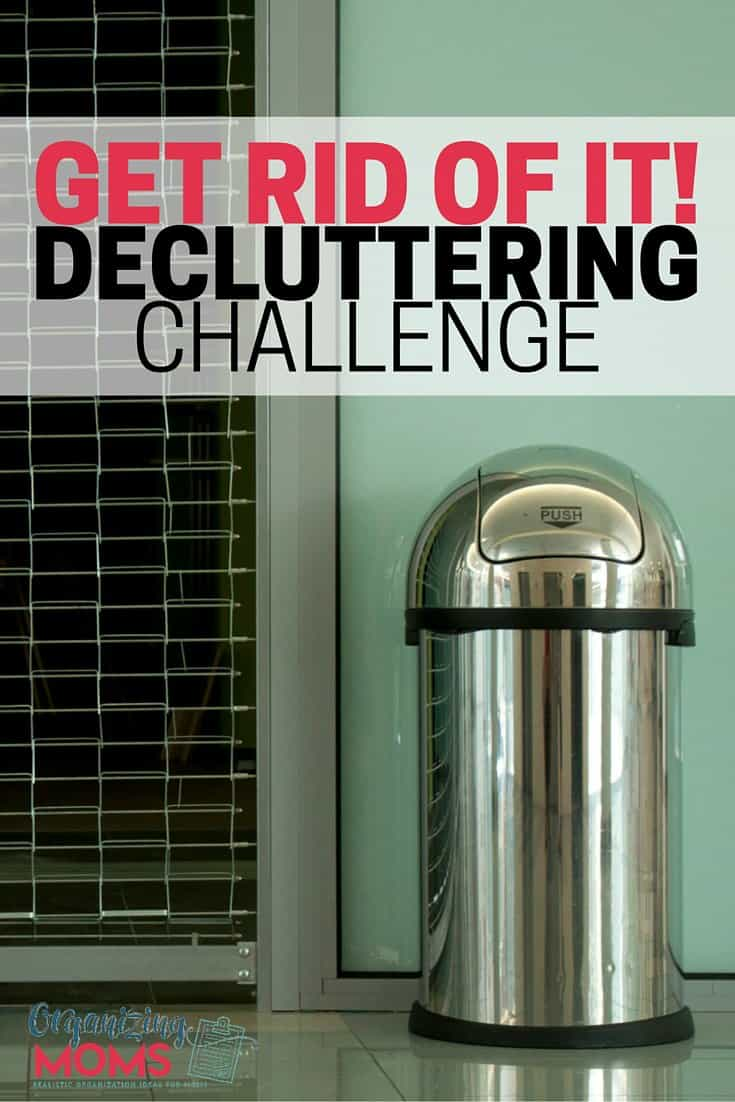A simple decluttering challenge that will help you de-junk your home. Easy daily tasks. Jump in any time and start where you are. Get rid of it. You can do this!