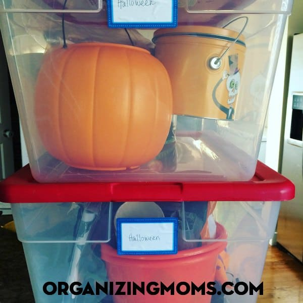 Organize and declutter Halloween decorations!