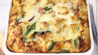 Ham and Spinach Breakfast Strata