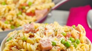 Healthy Leftover Ham Pasta with Peas