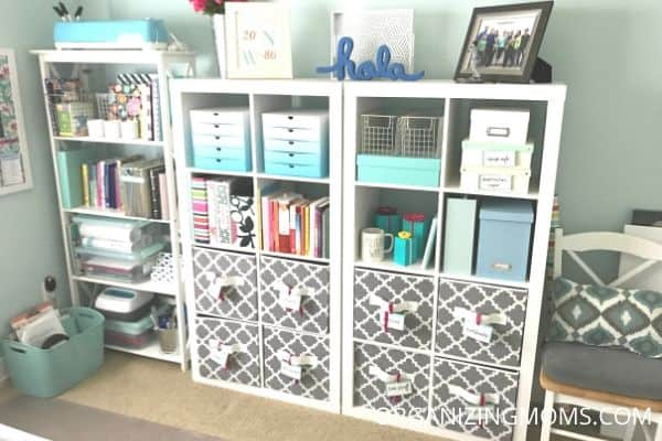 home office cube shelf storage homeschool room