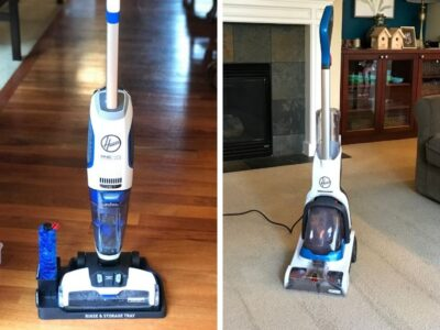 two hoover floor cleaners