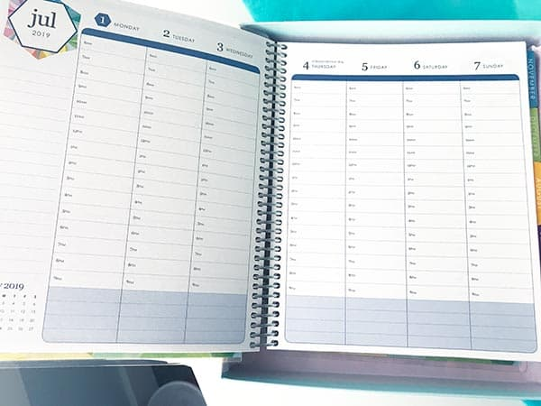 lifeplanner hourly layout