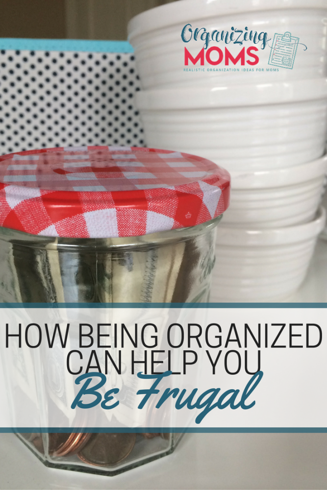 Frugality and organization go hand-in-hand. How being organized can help you be save money and be frugal.