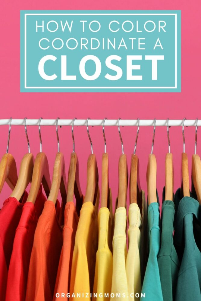how to set up a color coordinated closet