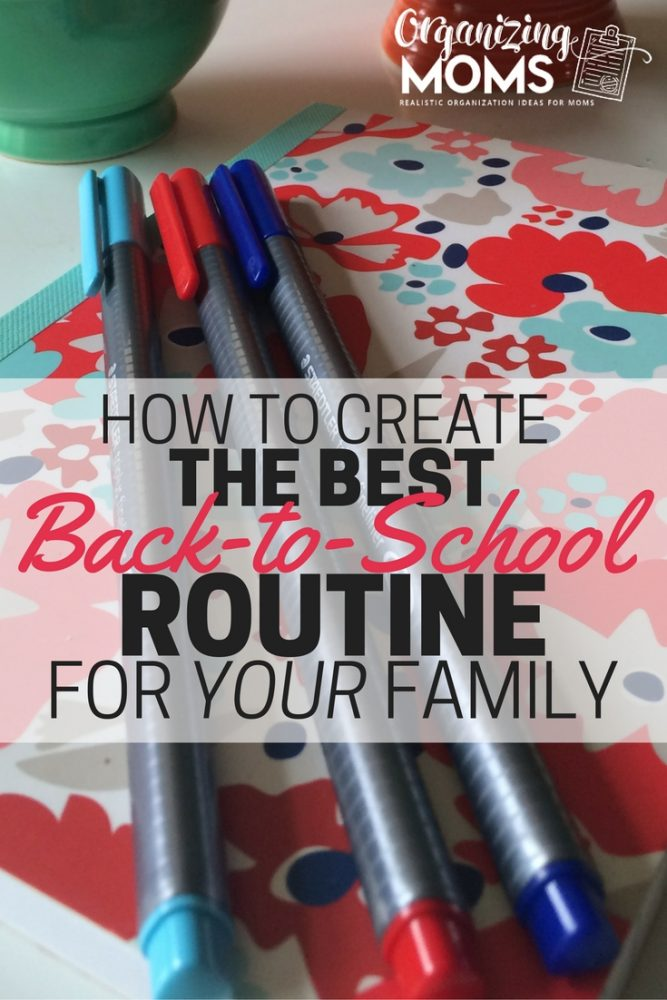 best back to school routine