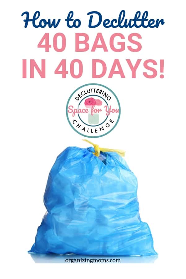 Declutter 40 bags in 40 days with this fun, realistic clutter busting challenge!