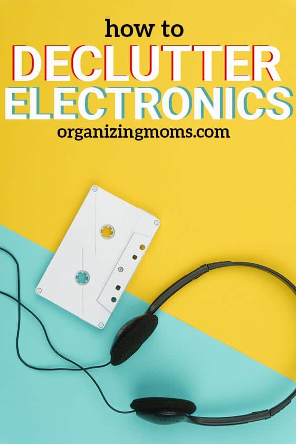 How to declutter electronics, computers, old devices, printers, and more. || declutter | decluttering tips | technology clutter | organize | decluttering ideas | recycle | overwhelmed by clutter.