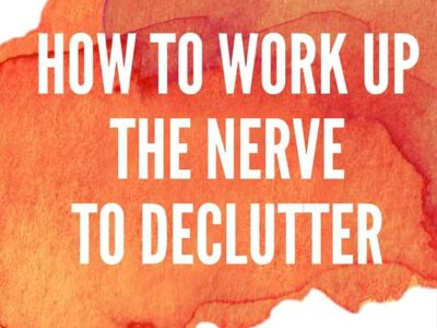Do you have a tough time decluttering? How to move past the guilt and self-questioning. Includes a helpful strategy that will allow you to declutter without having to make permanent decisions right away.