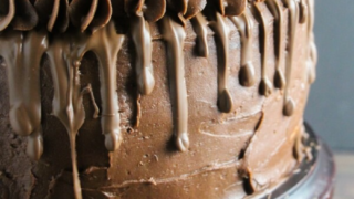 Triple Chocolate Candied Orange Layer Cake