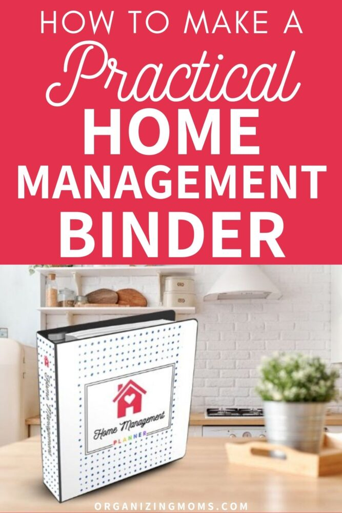 how to make a practical home management binder